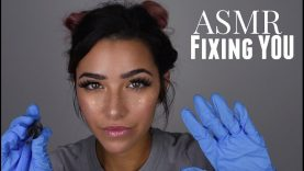 ASMR Fixing You Part 2 Whispered Roleplay (Gloves sounds, Face Brushing, Scratching sounds and +)