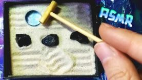 ASMR :: Miniature zen garden, crunching sand, scratchy sounds