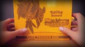 [ASMR] Pokemon Sun and Moon Guardians Rising Elite Trainer Box Opening ~ Crinkles, Shuffling