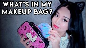 [ASMR] What's in my Makeup Bag? (Whispers & Tapping)