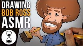 BOB ROSS Godfather of ASMR | Softly Spoken Drawing Tutorial