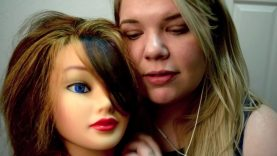 Brushing Hair for ASMR – Mannequin/ Fake Head and Whispering