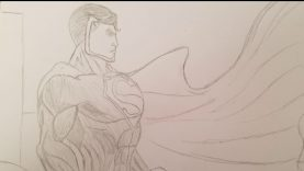 Superman Transforms into Super Saiyan (Patron Special Request of Superman Drawing) (For Vedant)